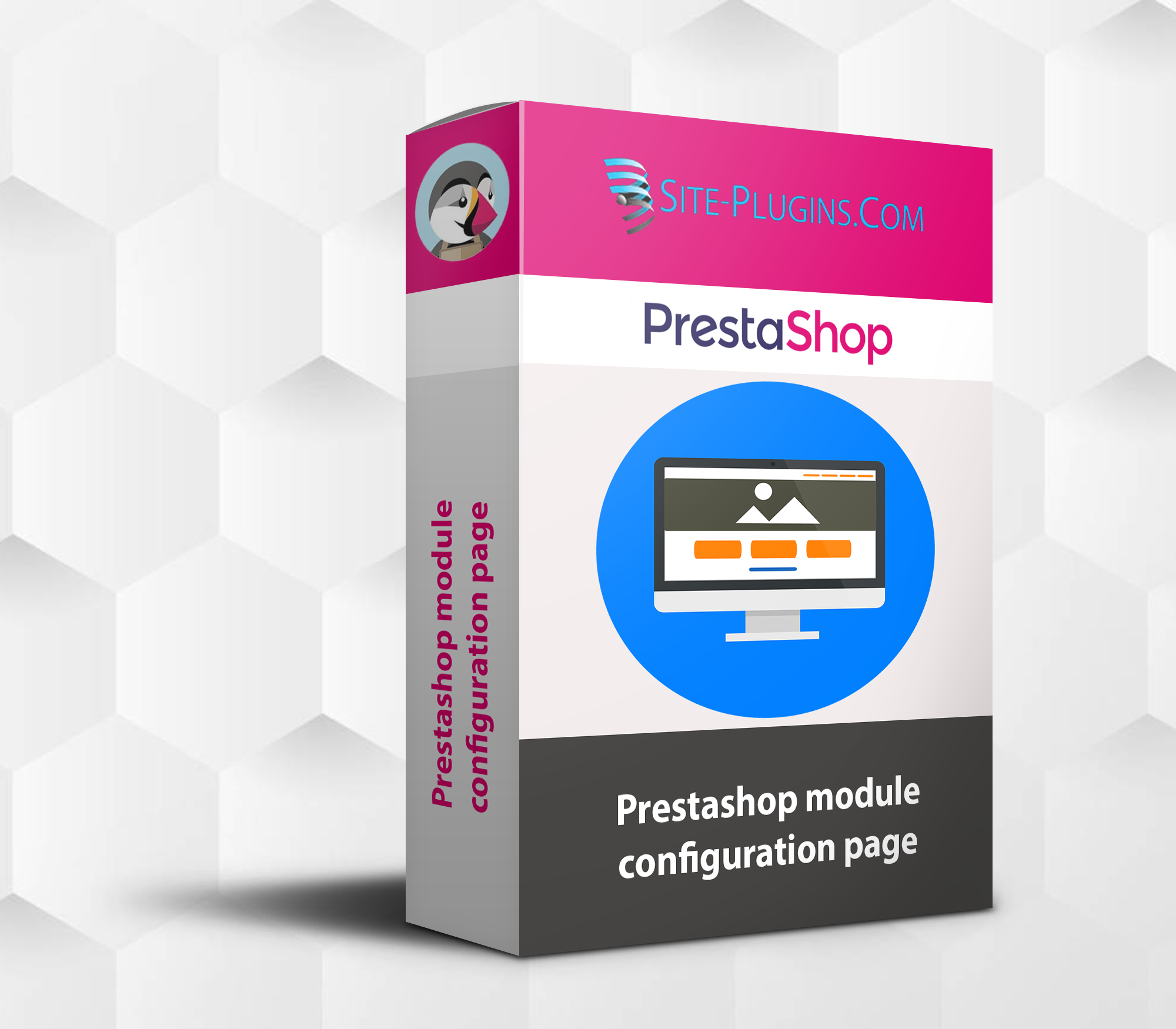 prestashop module configuration page
